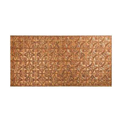 Traditional 1 - 2 ft. x 4 ft. Glue-up Ceiling Tile in Cracked Copper