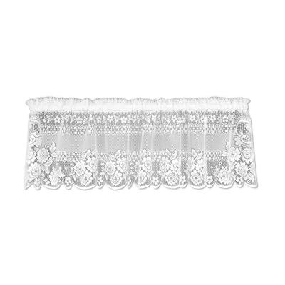 Victorian Rose 16 in. L Polyester Valance in White