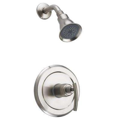 Vincennes 1-Handle 1-Spray Shower Faucet in Brushed Nickel (Valve Included)