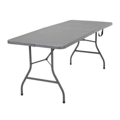 6 in. Gray Signature Series Blow Mold Centerfold Table