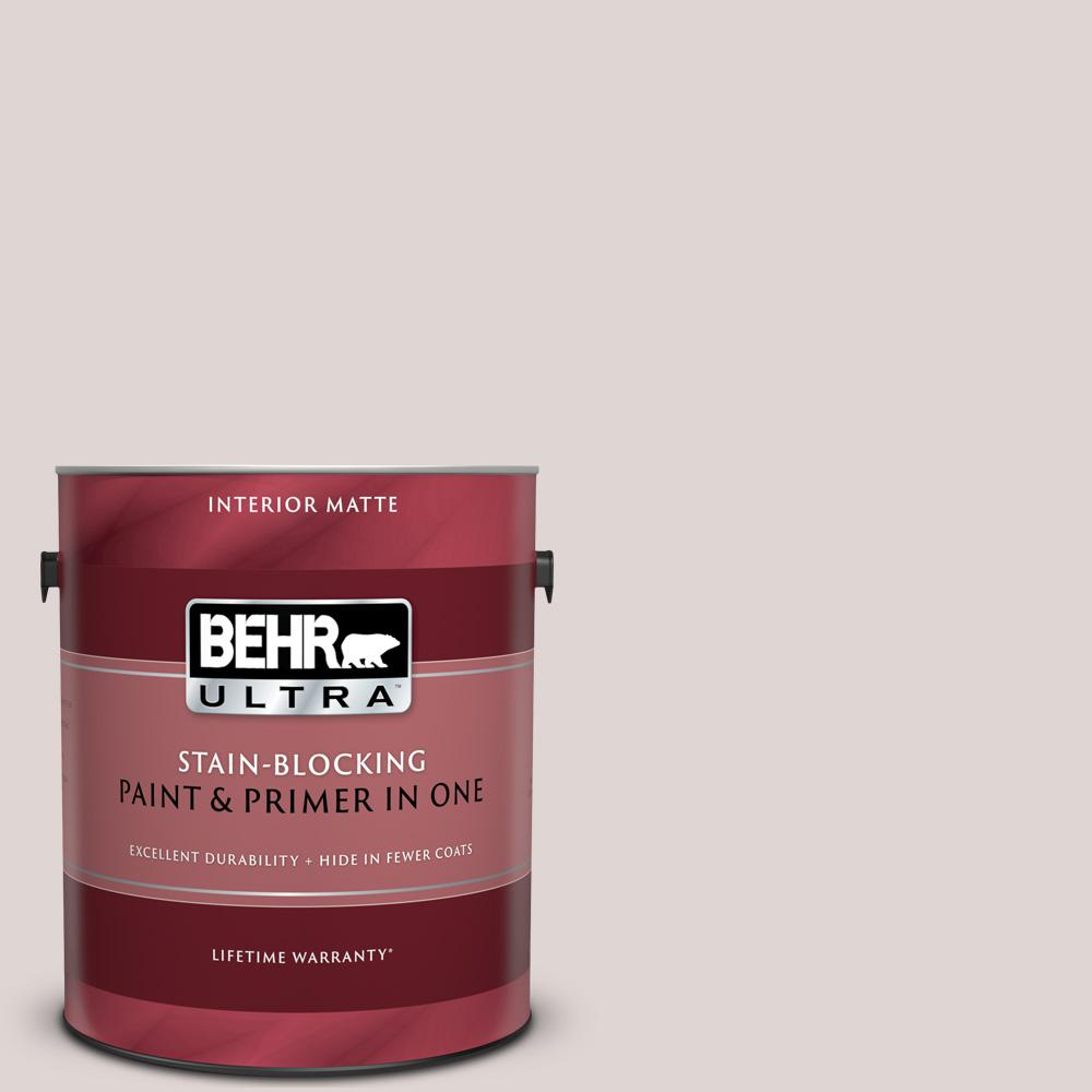 BEHR ULTRA 1 gal. #MQ3-02 Kyoto Pearl Matte Interior Paint and Primer in One