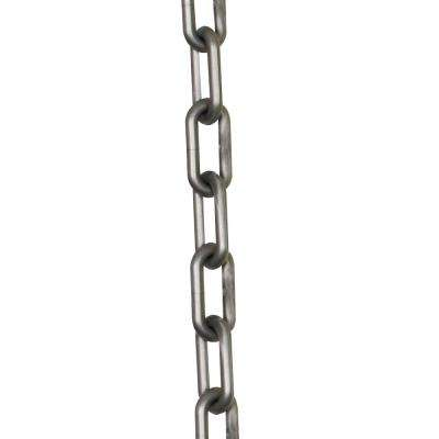 2 in. (#8, 51 mm) x 25 ft. Silver Plastic Chain