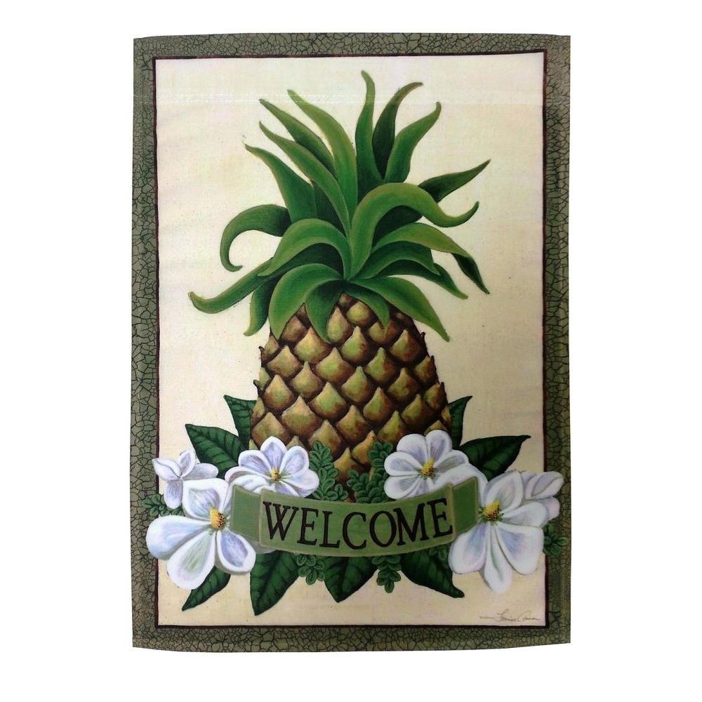 Meadow Creek 1 ft. x 1-1/2 ft. Pineapple Welcome 2-Sided Garden Flag ...