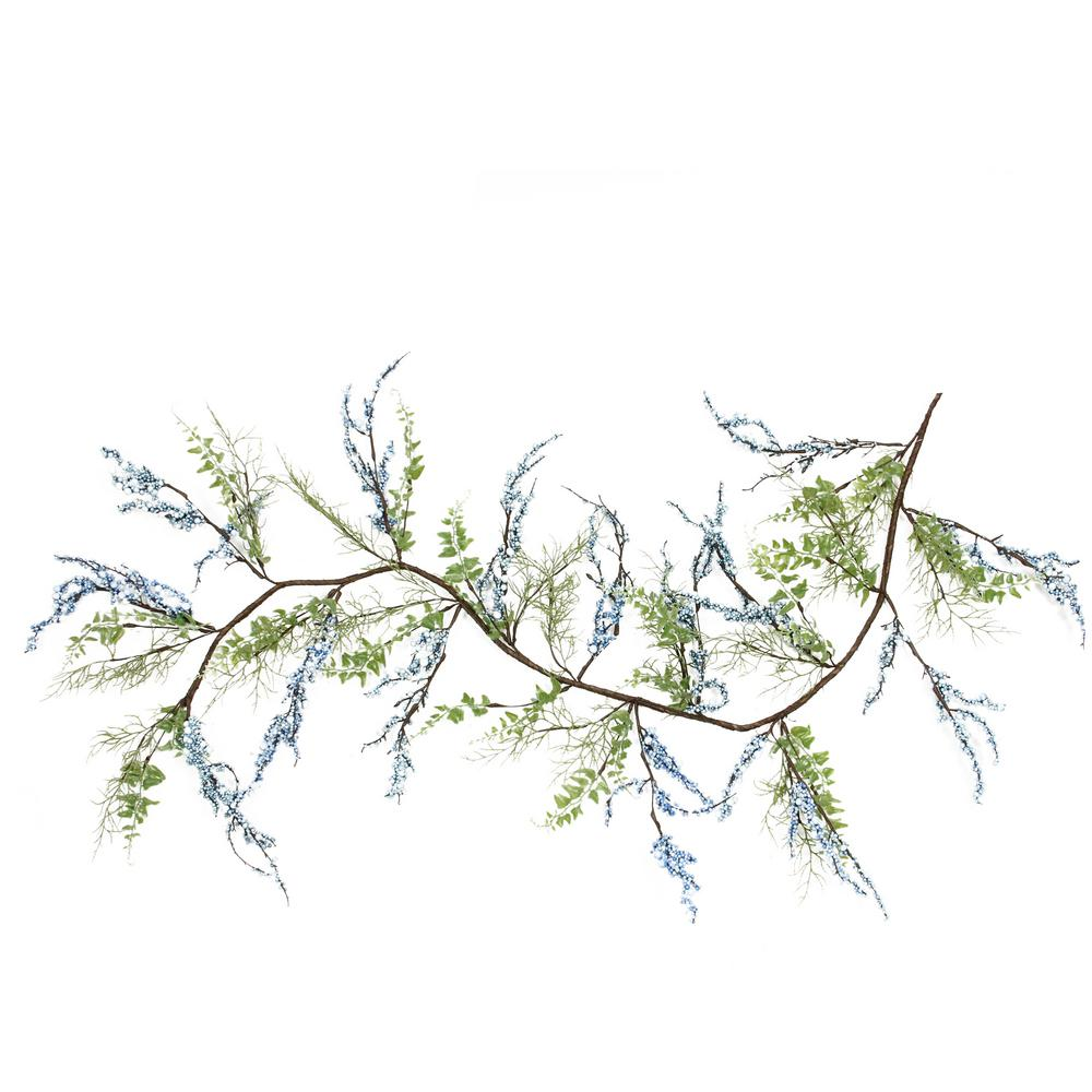 Christmas Garland Drawing.Northlight 5 Ft Green Blue And Brown Mixed Berry And Spring Floral Decorative Artificial Garland