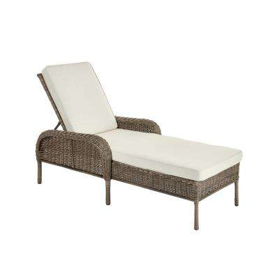 Cambridge Gray Wicker Outdoor Patio Chaise Lounge with Bare Cushions