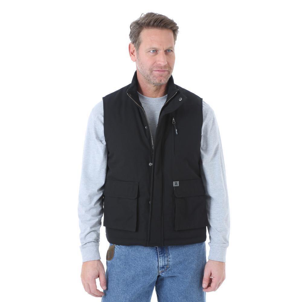 Men's Size Large Tall Black Foreman Vest