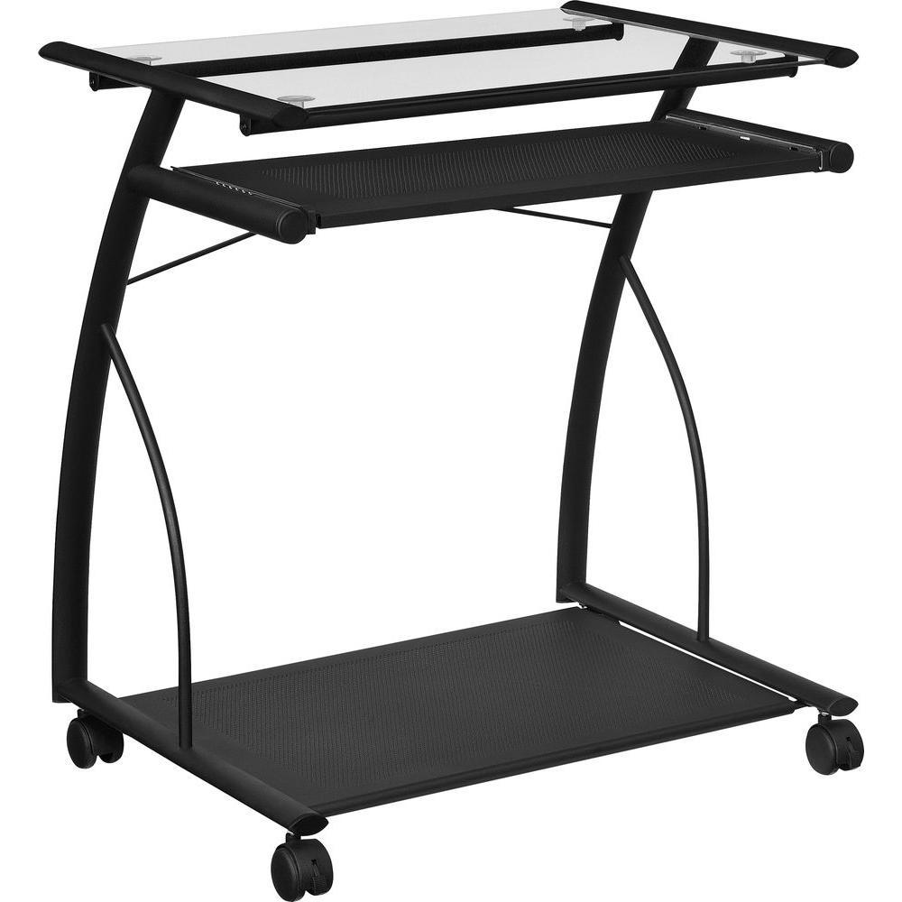 Concord Black Mobile Computer Desk