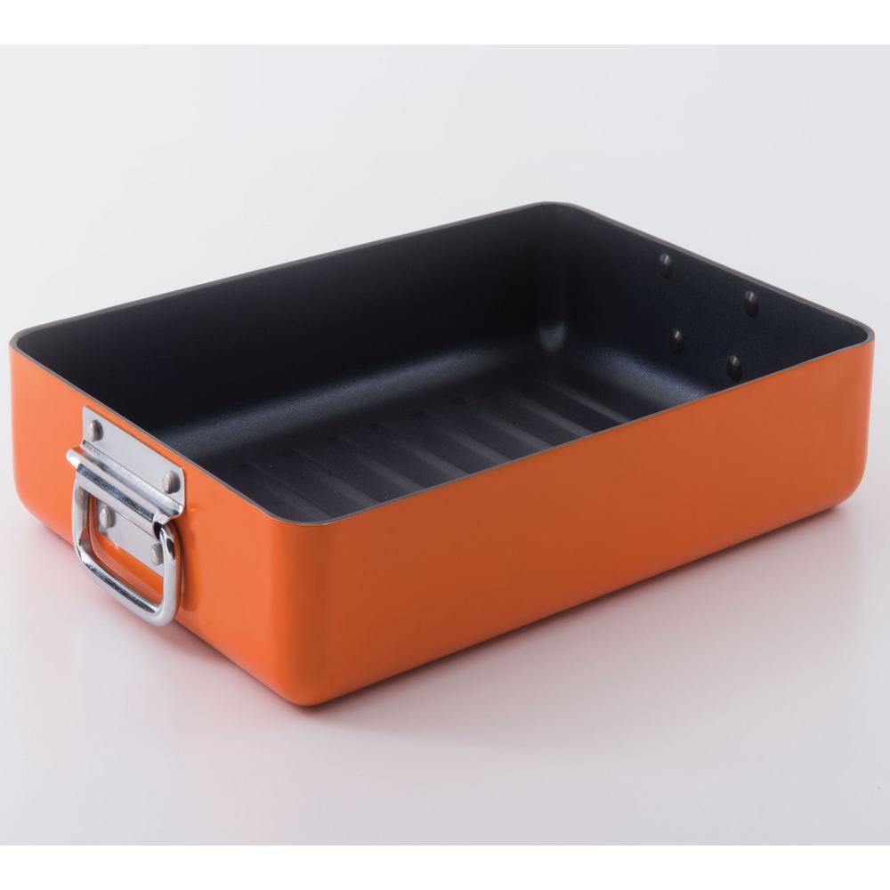 Eclipse 5.9 Qt. Non-Stick Aluminum Orange Roaster