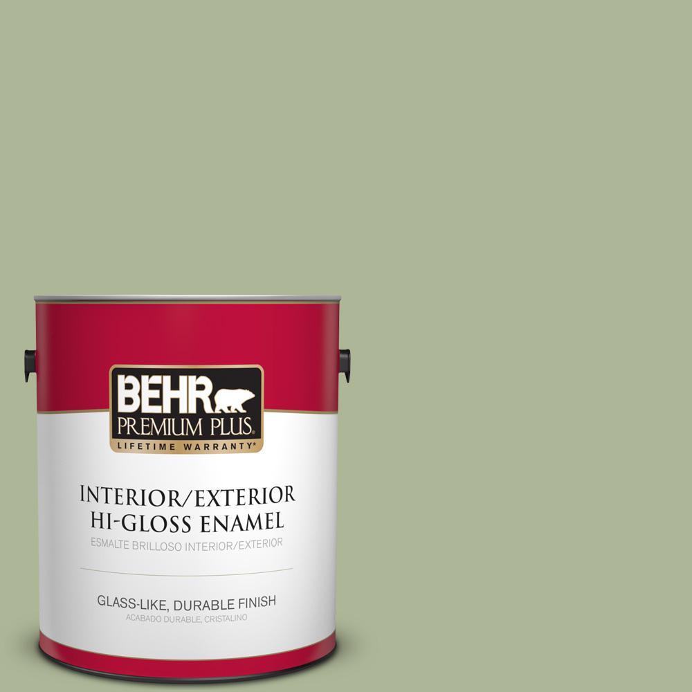 1 gal. #PPU11-08 Moss Print Hi-Gloss Enamel Interior/Exterior Paint