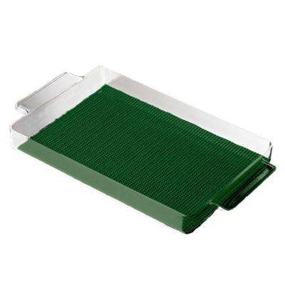 Fishnet Rectangular Serving Tray in Hunter Green