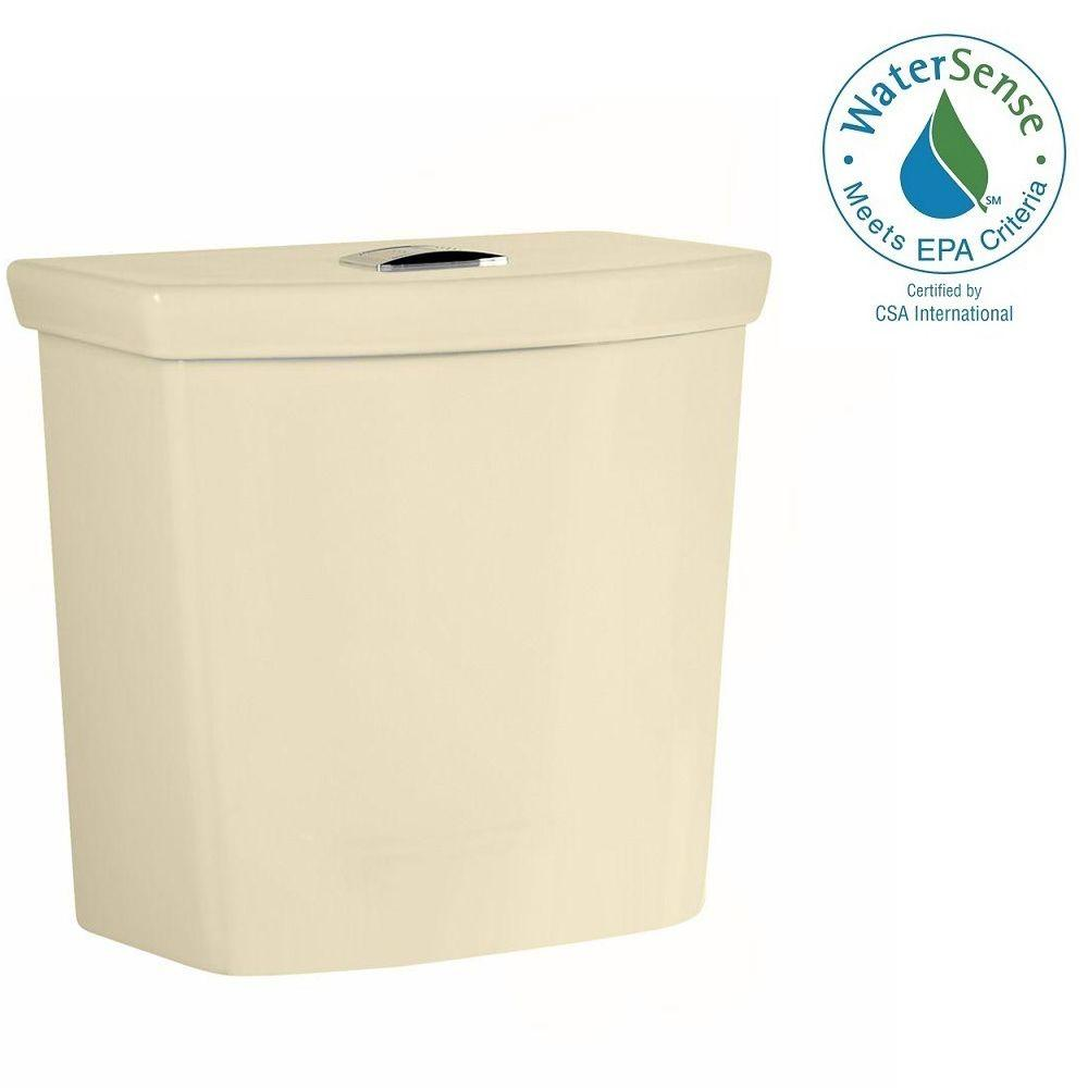 H2Option Dual Flush Toilet Tank Only with Liner in Bone