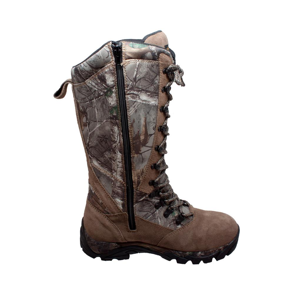 finest selection bd6cf 8d63d Tecs Men s Size 14 Camo Brown Suede Leather 15 in. Snake Bite Hunting Boots
