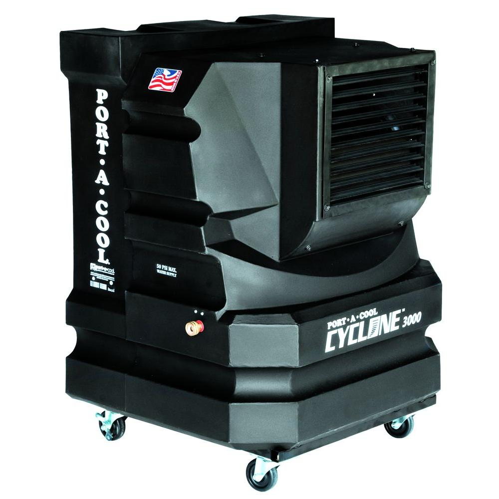 PORTACOOL Cyclone 3000 CFM 2-Speed Portable Evaporative Cooler for 700 sq. ft.