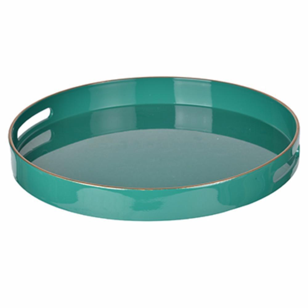 Fantastic Green Round Tray With Cutout Handles Machost Co Dining Chair Design Ideas Machostcouk