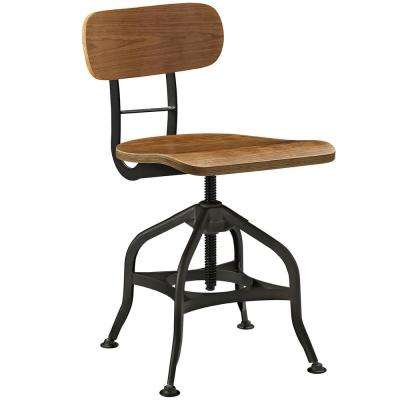 Mark 15.5 in. - 23 in. Brown Wood Dining Stool