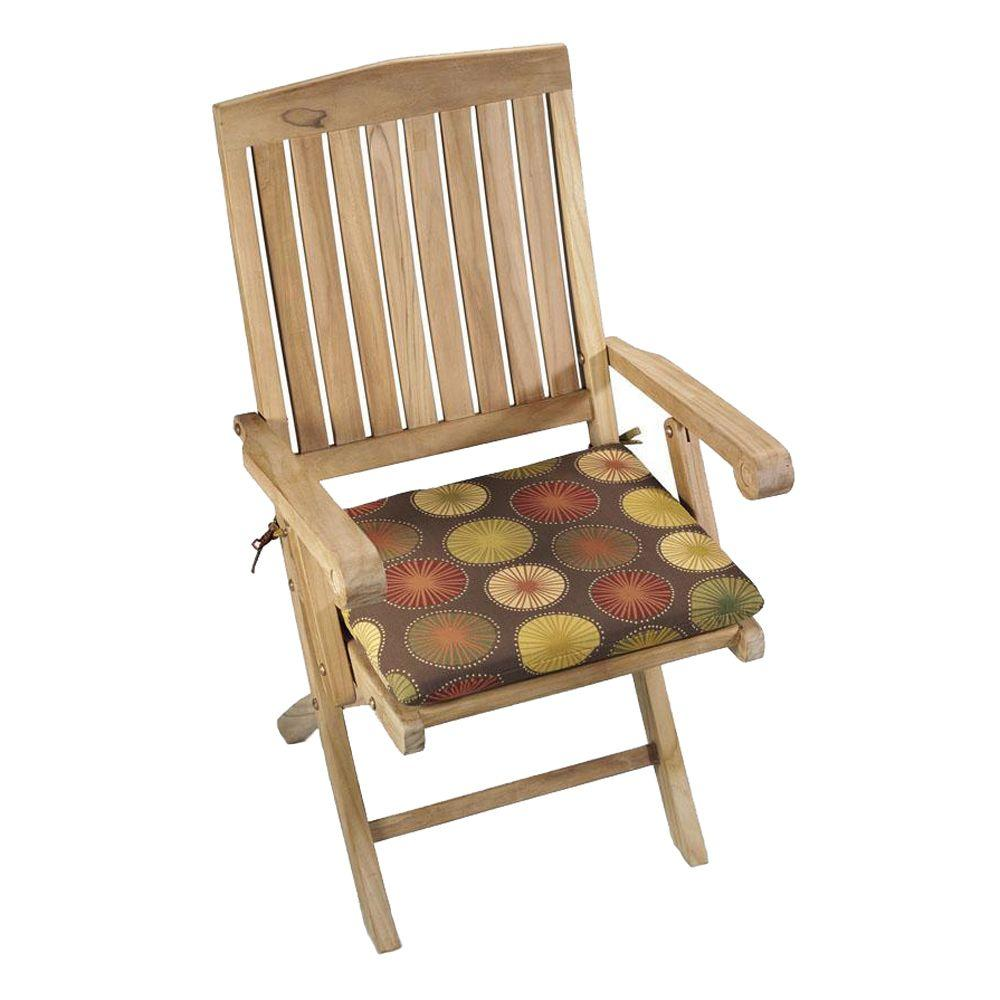 null Bali Berringer Chocolate Polyester Outdoor Chair Cushion