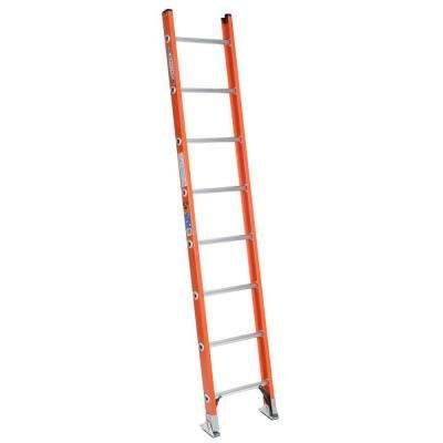 8 ft. Fiberglass D-Rung Straight Ladder with 300 lb. Load Capacity Type IA Duty Rating