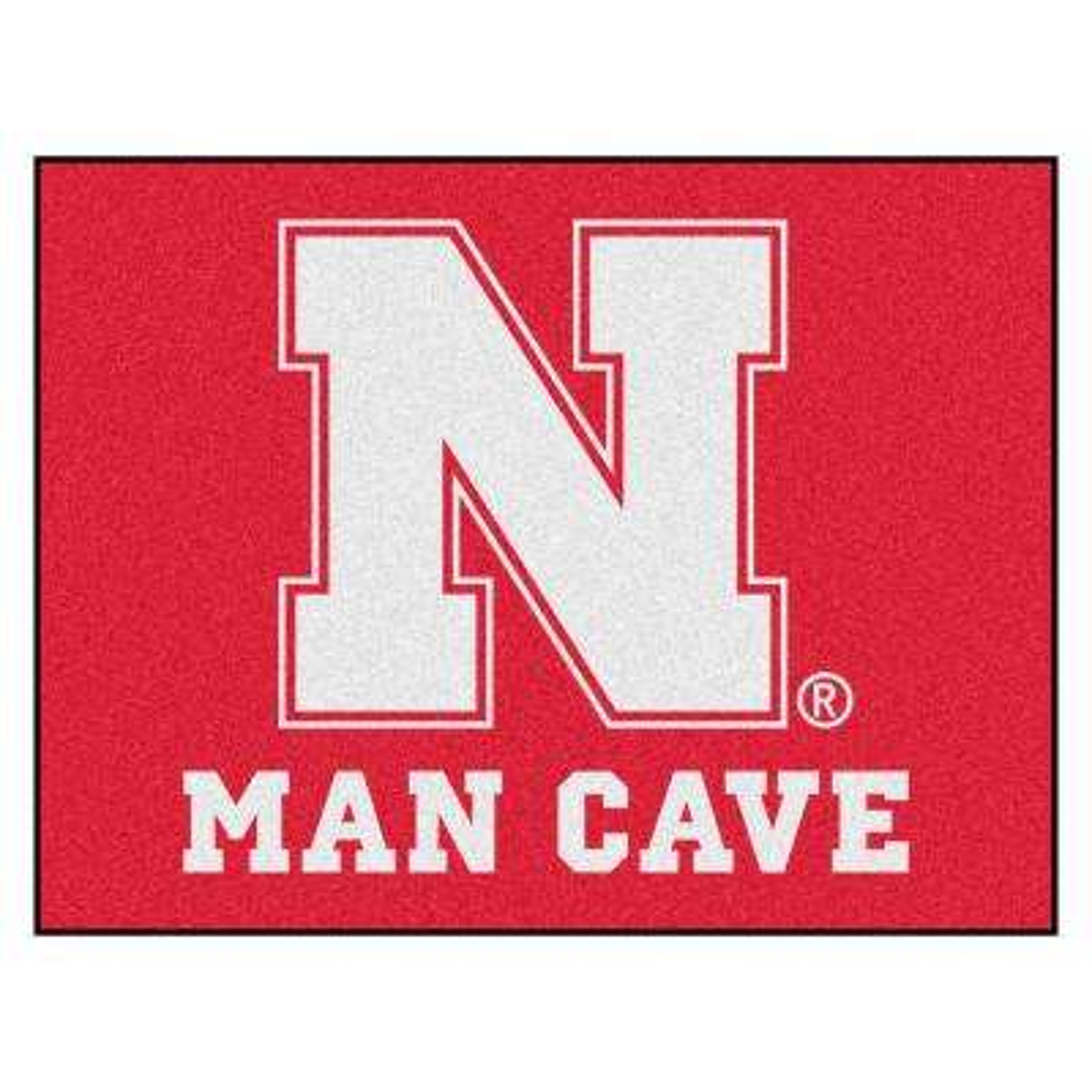 University of Nebraska Red Man Cave 2 ft. 10 in. x 3 ft. 9 in. Accent Rug
