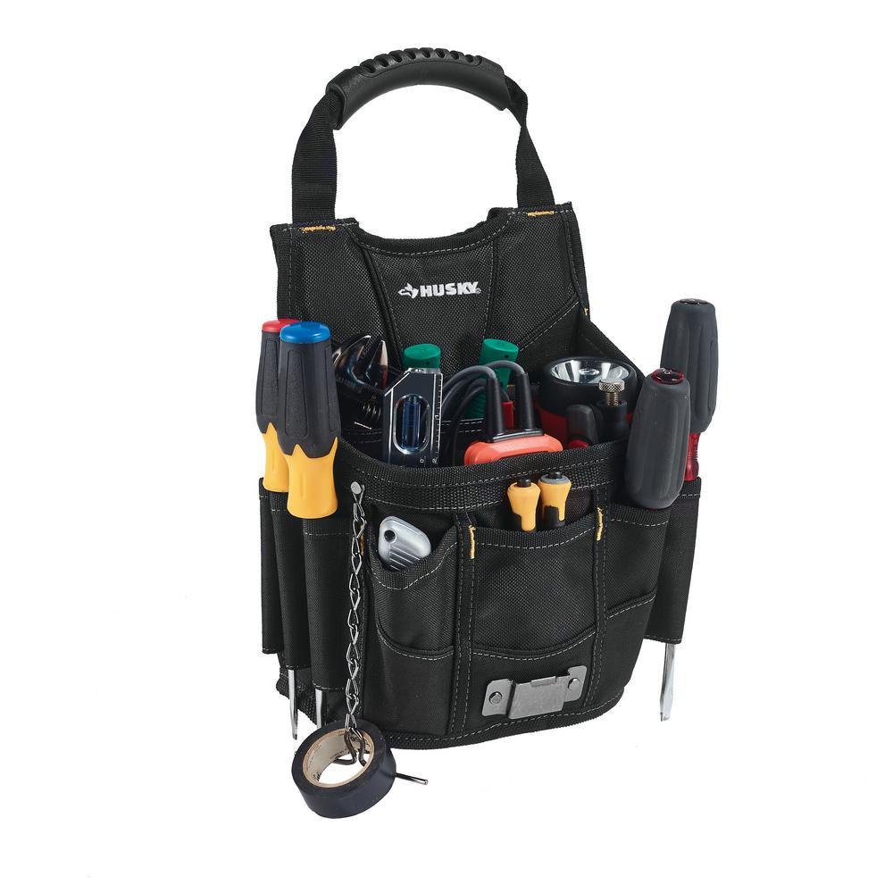 5866700668e4 Husky 13-Pocket Large Black Utility Tool Pouch