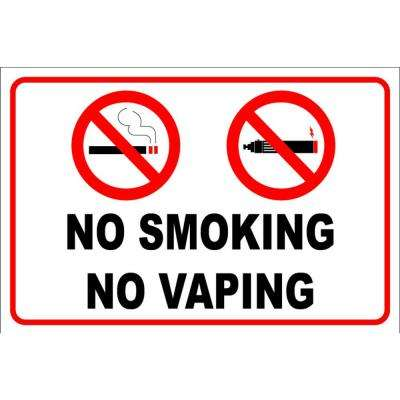 12 in. x 8 in. Plastic No Smoking No Vaping Sign