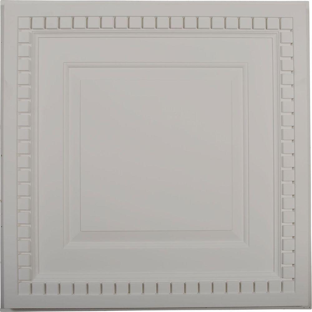 1-5/8 in. x 23-3/4 in. x 23-3/4 in. Polyurethane Dentil Ceiling Tile