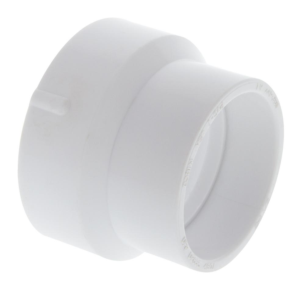 Nibco 2 In X 1 1 2 In Pvc Dwv Reducing Coupling C4801hd2112 The Home Depot