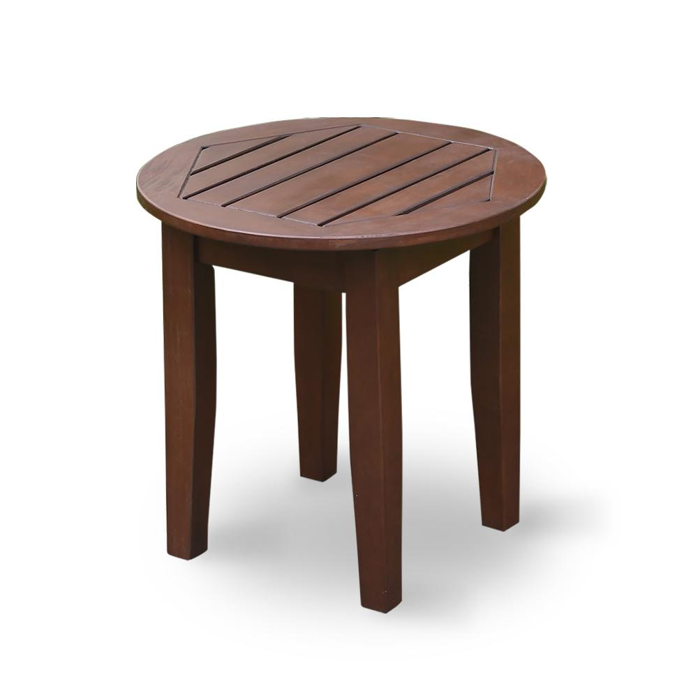 Cambridge Casual Wales Round Wood Outdoor Side Table