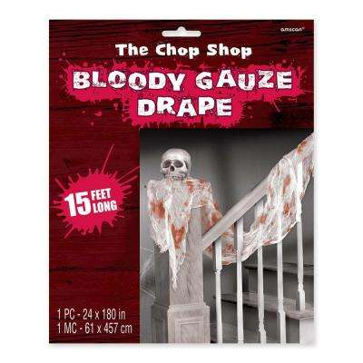 15 ft. x 2 ft. Halloween Bloody Drape (2-Pack)