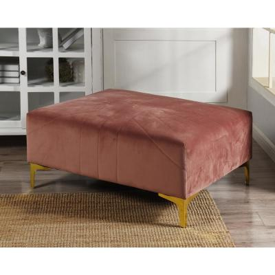 Roxie Rose Ottoman in Pink Gold Base