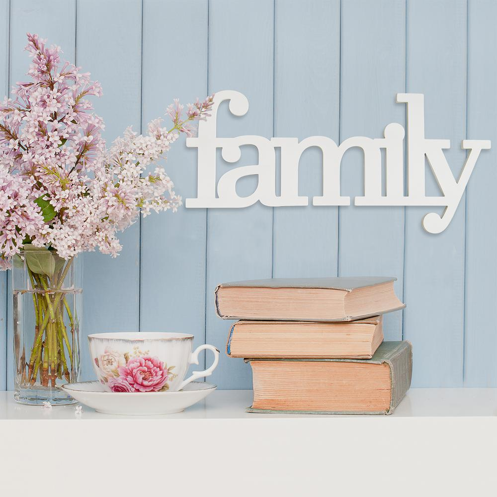 Stratton Home Decor Family Wood Typography Wall Art