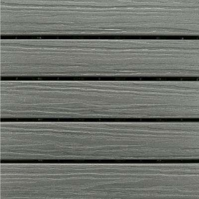 Elite 1 ft. x 1 ft. Premium Polymer Deck Tile In Driftwood Grey (10-Tile/Case)