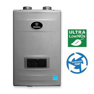 11 GPM High Efficiency Natural Gas Tankless Water Heater with Built-In Recirculation and Pump