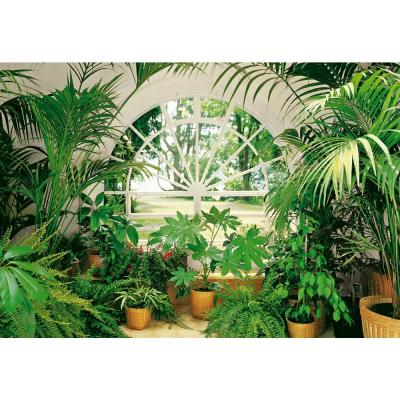 100 in. x 0.25 in. Winter Garden Wall Mural