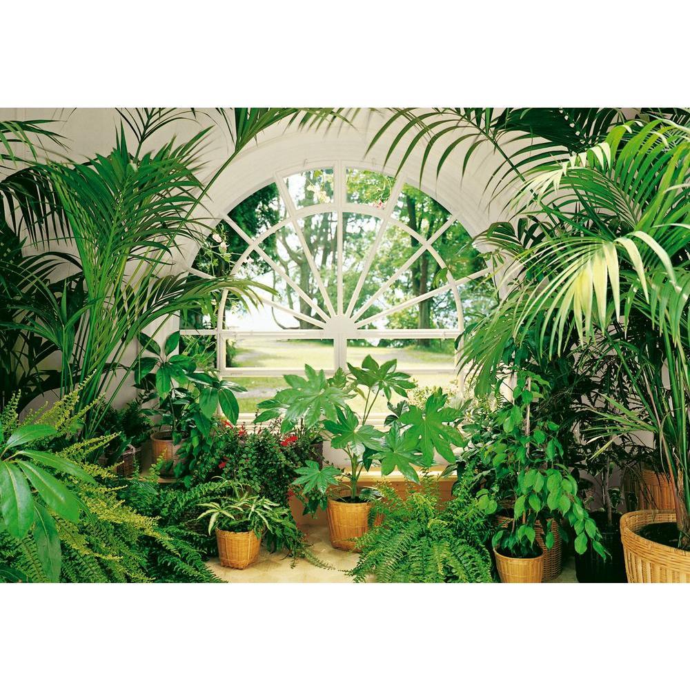 Ideal Decor 100 in. x 0.25 in. Winter Garden Wall Mural