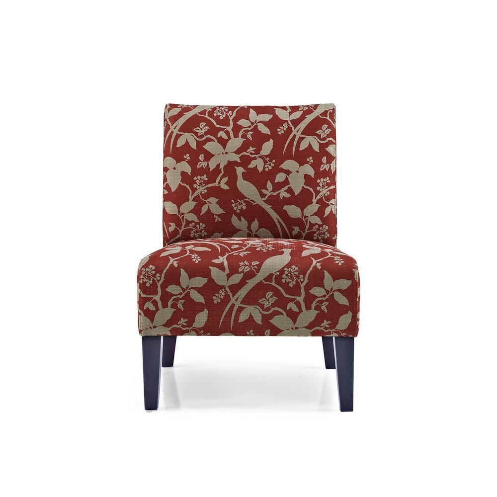 Monaco Crimson Bardot Accent Chair by