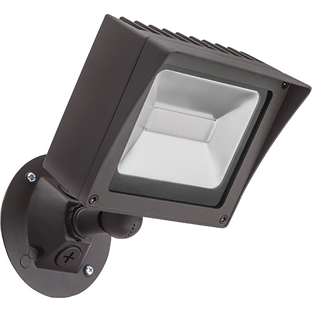 Lithonia Lighting Olmf Bronze Outdoor Integrated Led Wall Mount Flood Light Olmf P1 40k 120 Ddb Hp17 M4 The Home Depot