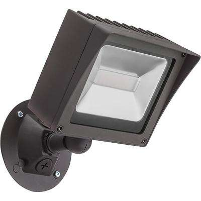 Bronze Outdoor Integrated LED Wall Mount Flood Light