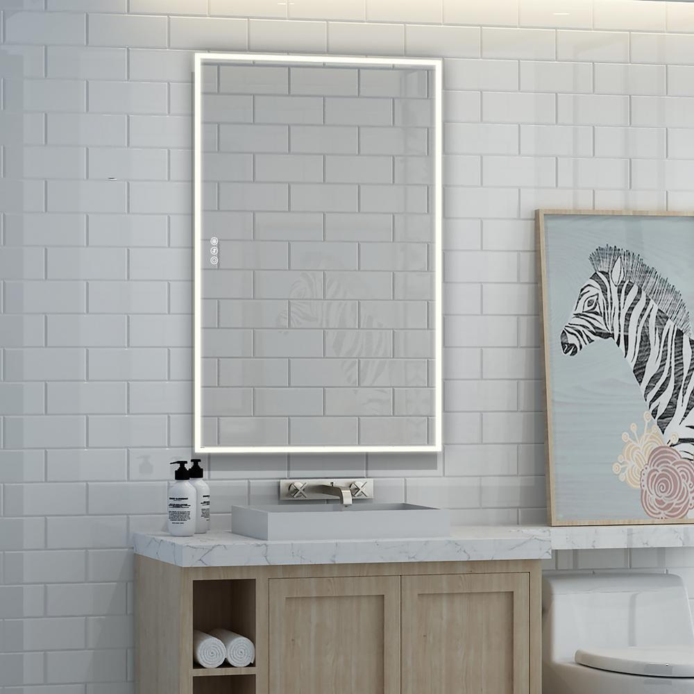 Led Light Bathroom Mirrors Bath The Home Depot