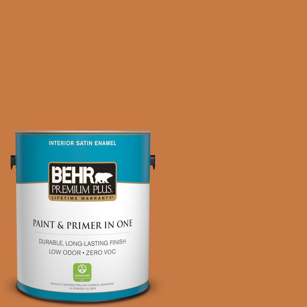 1 gal. #M230-7 Rumba Orange Satin Enamel Zero VOC Interior Paint