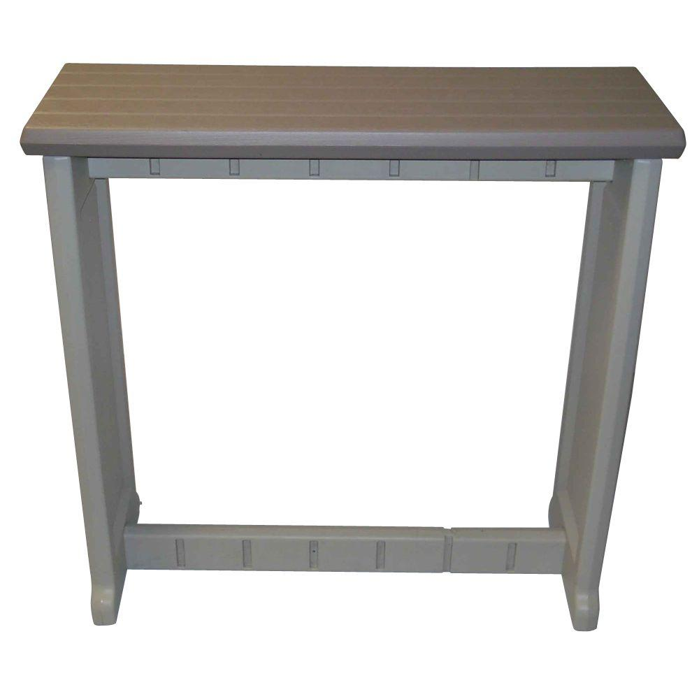 Leisure Accents Taupe 36 in. Resin Patio Bar