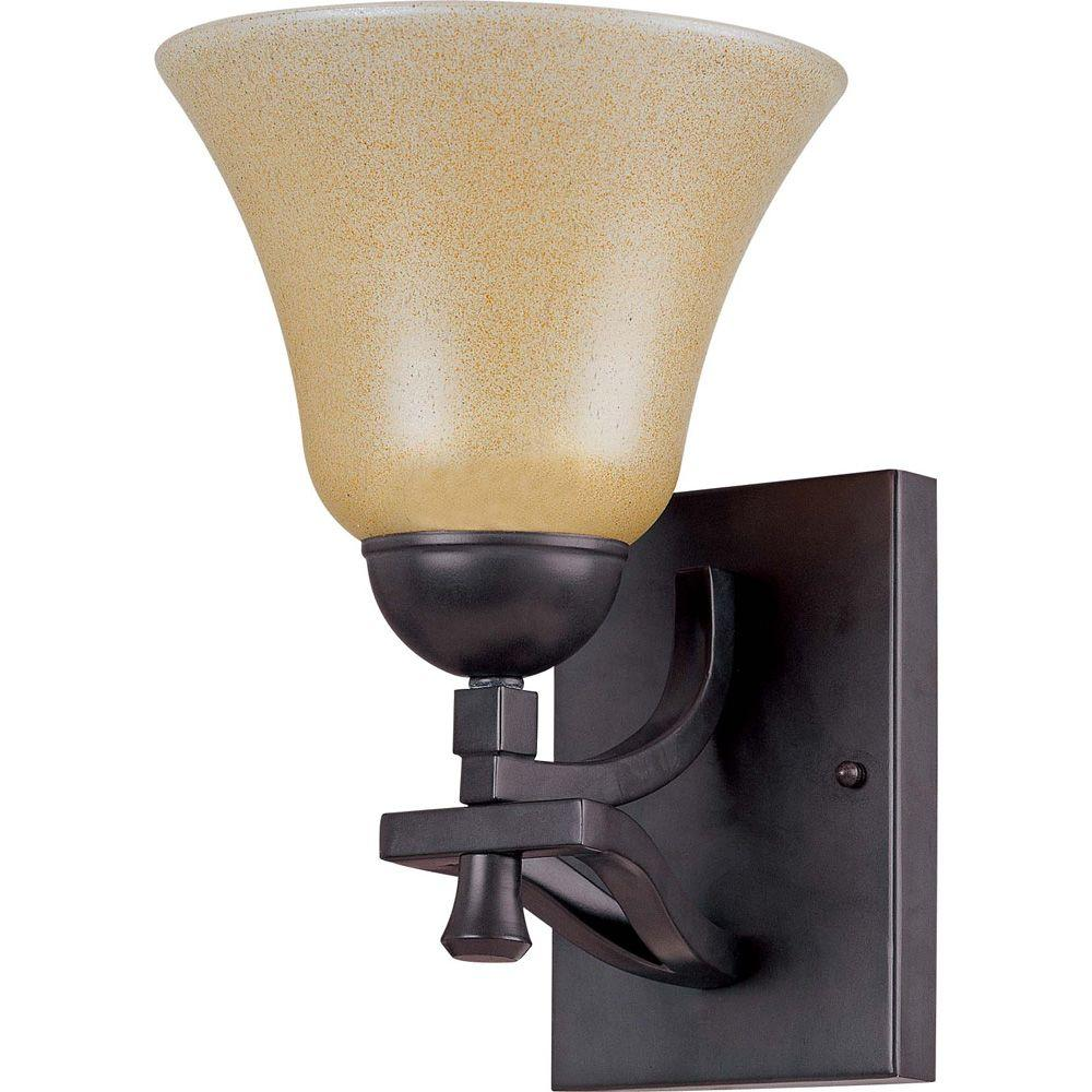 Glomar Dakota - 1-Light Vanity with Toasted Honey Glass-DISCONTINUED