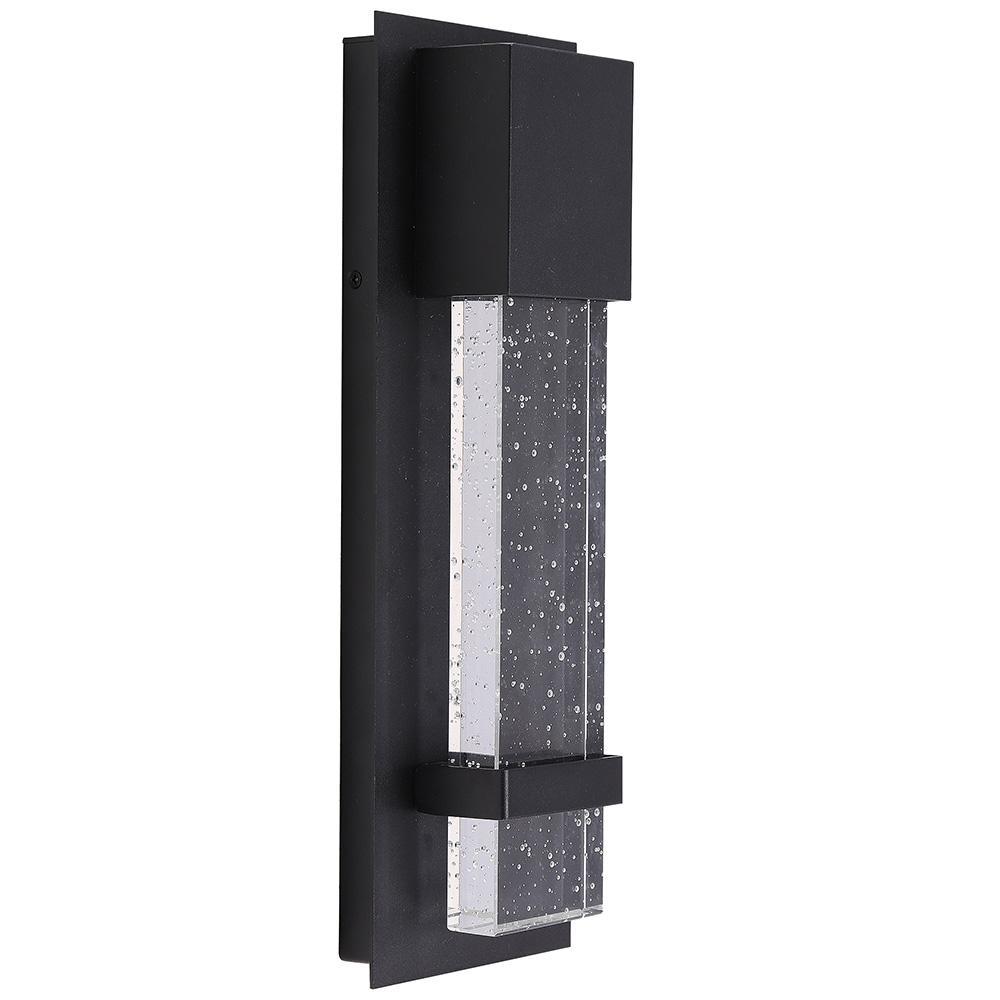 Venecia 1-Light Matte Black Outdoor Integrated LED Wall Mount Sconce