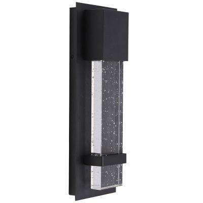 Venecia 1-Light Matte Black Outdoor Integrated LED Wall Mount Sconce