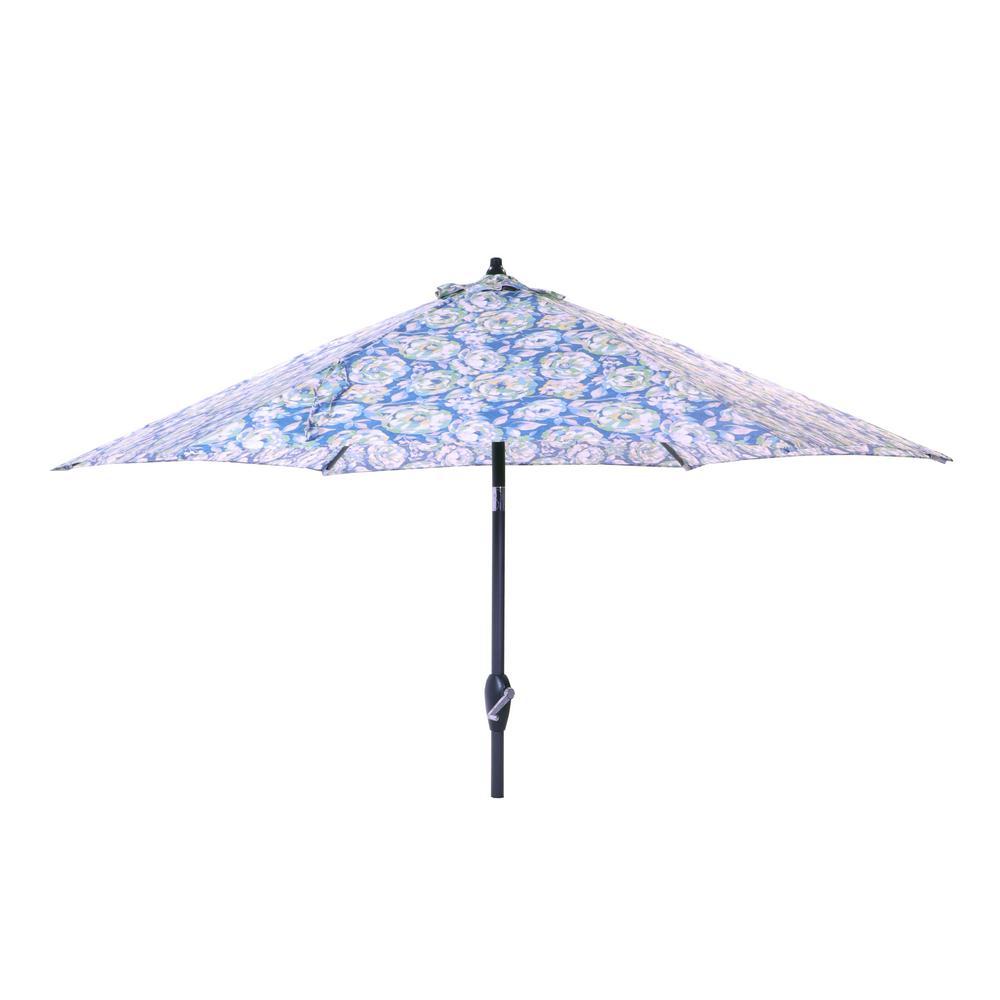 9 ft. Aluminum Market Tilt Patio Umbrella in Philomena