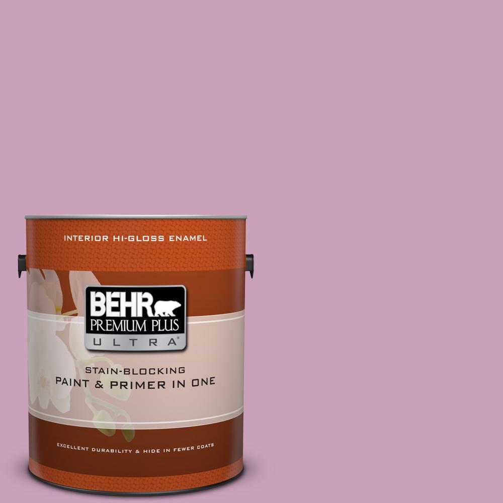 1 gal. #690D-4 Taste of Berry Hi-Gloss Enamel Interior Paint