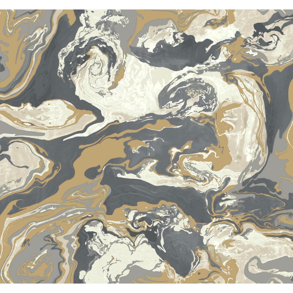 York Wallcoverings DwellStudio Medici Marble Wallpaper
