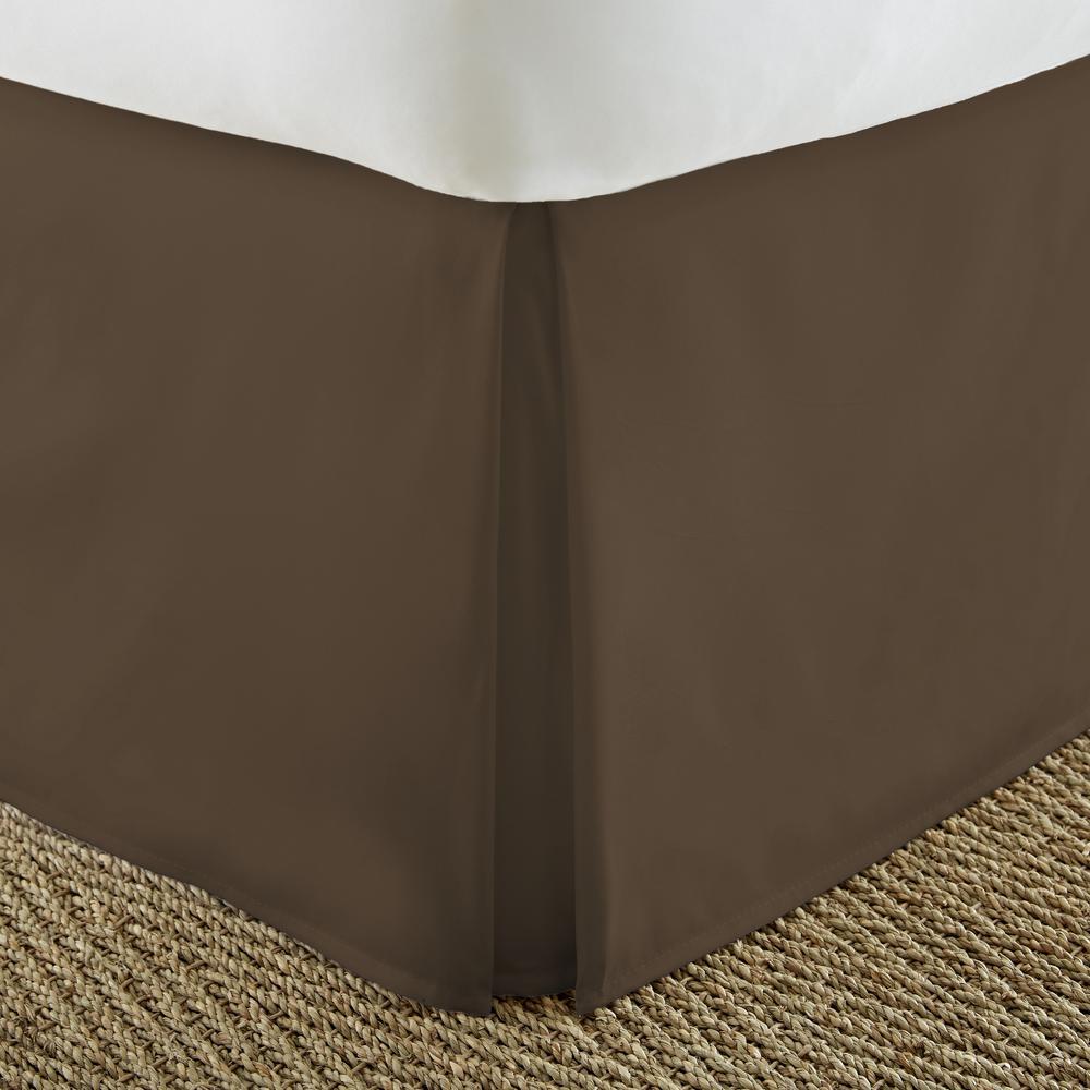 Pleated Dust Ruffle Chocolate California King Performance Bed Skirt