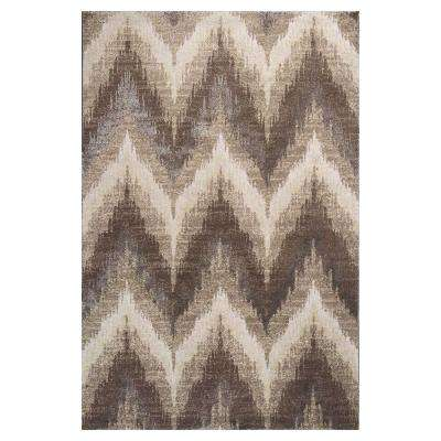 Chevron Champagne 2 ft. 2 in. x 3 ft. 3 in. Area Rug