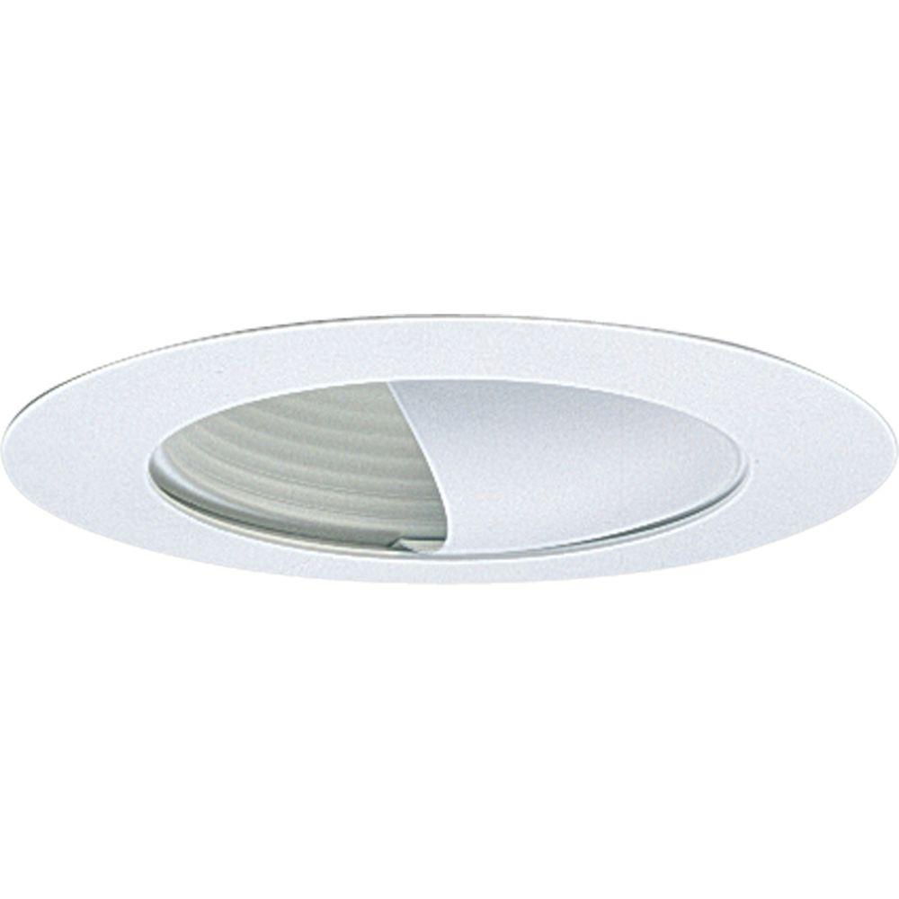 Progress Lighting 6 In. White Recessed Wall Washer Trim