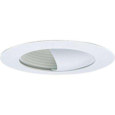 6 in. White Recessed Wall Washer Trim